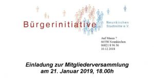 BiNS e.V. Mitgliederversammlung @ KOMMzentrum Neunkirchen | Neunkirchen | Saarland | Deutschland